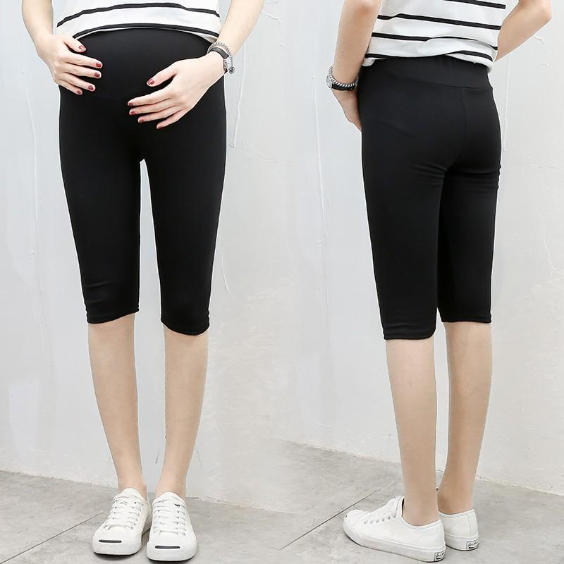 ฤดูร้อน modal หญิงตั้งครรภ์ที่สามารถปรับยืดกางเกงบาง