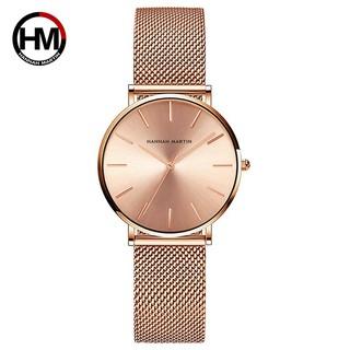 Đồng hồ nữ HANNAH MARTIN chính hãng - Model HM-CC36 - dây thép không gỉ - bảo hành 1 thumbnail