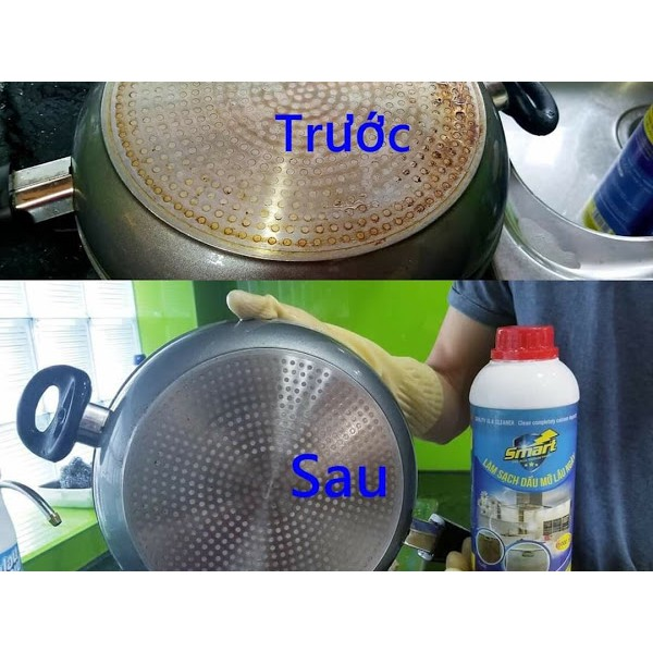 Combo 2 Chai tẩy dầu mỡ Smart cleaner 500ml, tẩy sạch chỉ trong 5 ...
