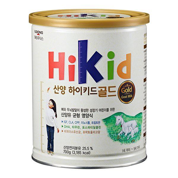 [Tem phụ + tem chống hàng giả] Sữa Hikid dê Hàn Quốc 700g