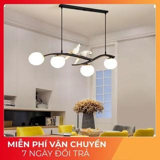 Đèn thả trần,đèn trang trí,đèn thả bàn ăn,đèn chim- Đèn chùm chim đôi ĐEN,đèn chùm phòng khách, phòng ăn-bảo hành 2 năm