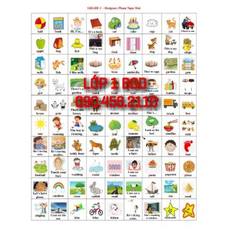 Sticker lớp 1 BGD