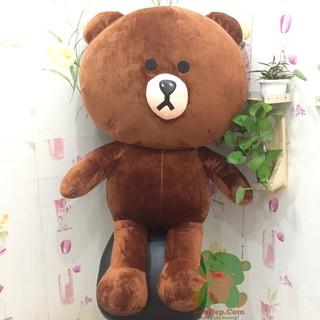 Gấu bông Brown khổ vải 1m4