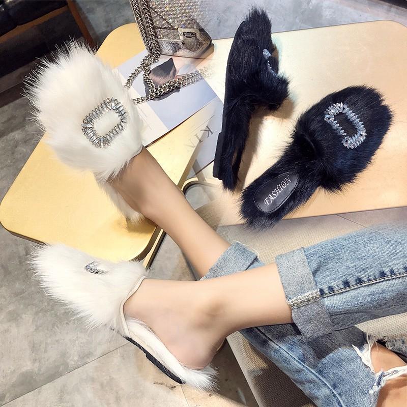 รองเท้าแฟชั่นสตรีรองเท้าแตะตุ๊กตาฤดูใบไม้ร่วงและฤดูหนาวหญิงเกาหลี