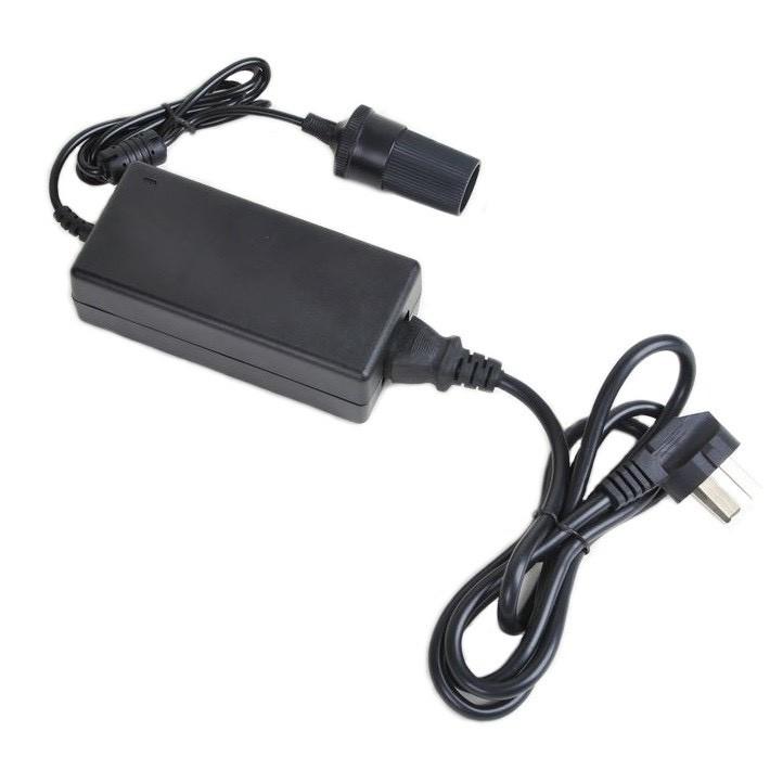Adapter đổi nguồn từ 220VAC sang 12VDC-5A-60W cắm tẩu châm thuốc ô tô