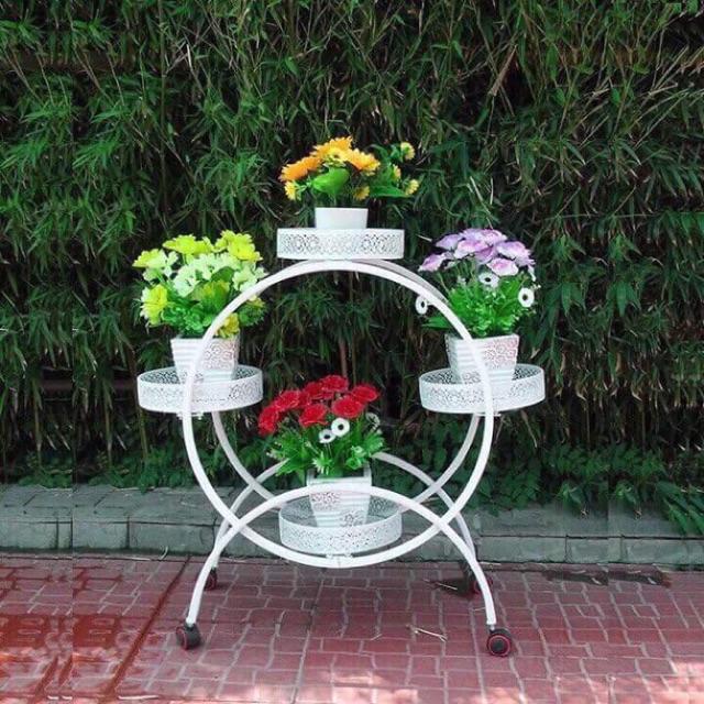 Kệ giá sắt trồng hoa- cây cảnh