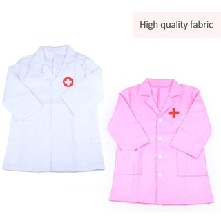 Children's Clothing Role Play Costume Doctor's Overall White Gown Nurse Uniform