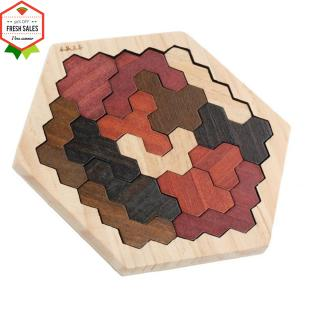 Funny Wooden Tangram Board Geometric Shape Puzzle Game Blocks Toy for Kids