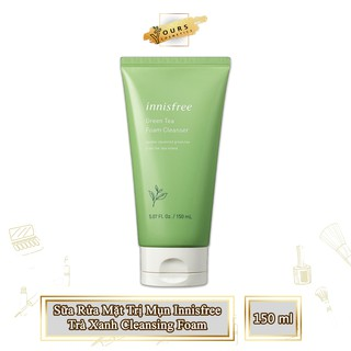[Auth Hàn] Sữa Rửa Mặt Trà Xanh Innisfree Giảm Mụn Cleansing Foam - Sua rua mat ngăn ngừa mụn Innisfree trà xanh