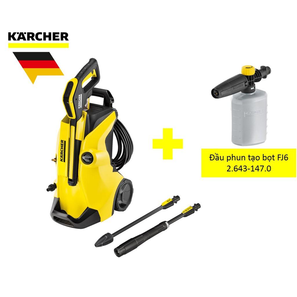 Combo máy xịt rửa xe Karcher K4 full control và đầu phun tạo bọ