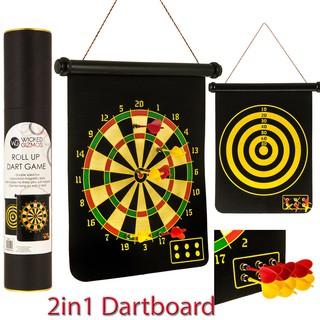 Bộ Phi Tiêu Nam Châm Cuộn 2 Mặt (Rolled Up Magnetic Dart Board)
