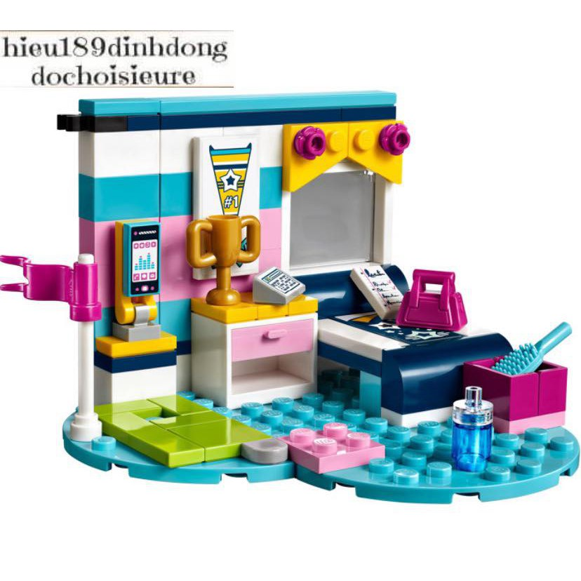 Đồ chơi phòng ngủ của Stephanie Lego Friends - 41328 (95 chi tiết)