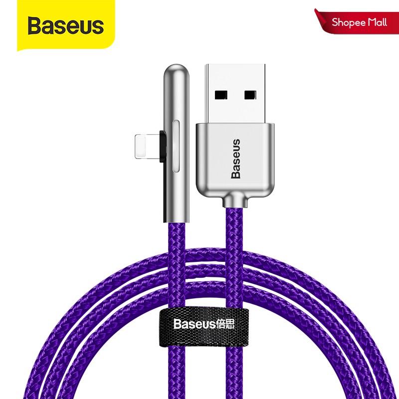 Cáp sạc nhanh Baseus 2.4A thiết kế bền đẹp tiện dụng cho iPhone XS Max XR X 8 7 iPad