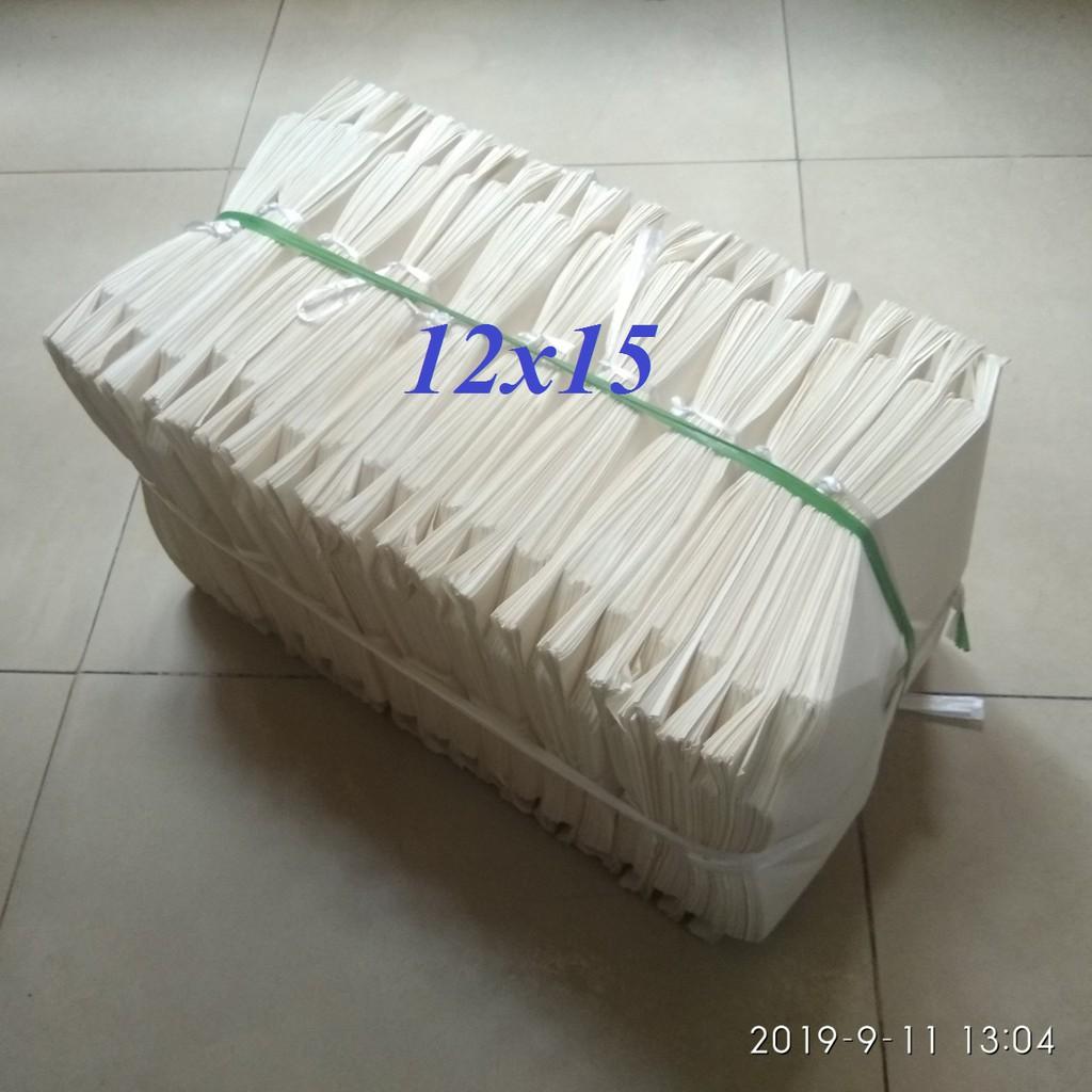 Combo 1000 túi giấy trắng size 12x15