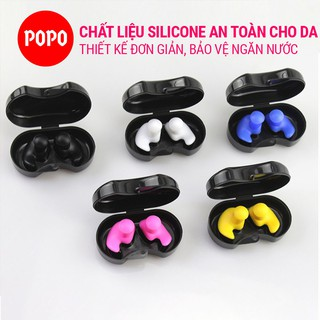 Bộ 2 nút bịt tai cao cấp EP1 chất liệu silicon dẻo mềm mịn cao cấp chống nước 100% bảo vệ an toàn cho da chính hãng POPO thumbnail