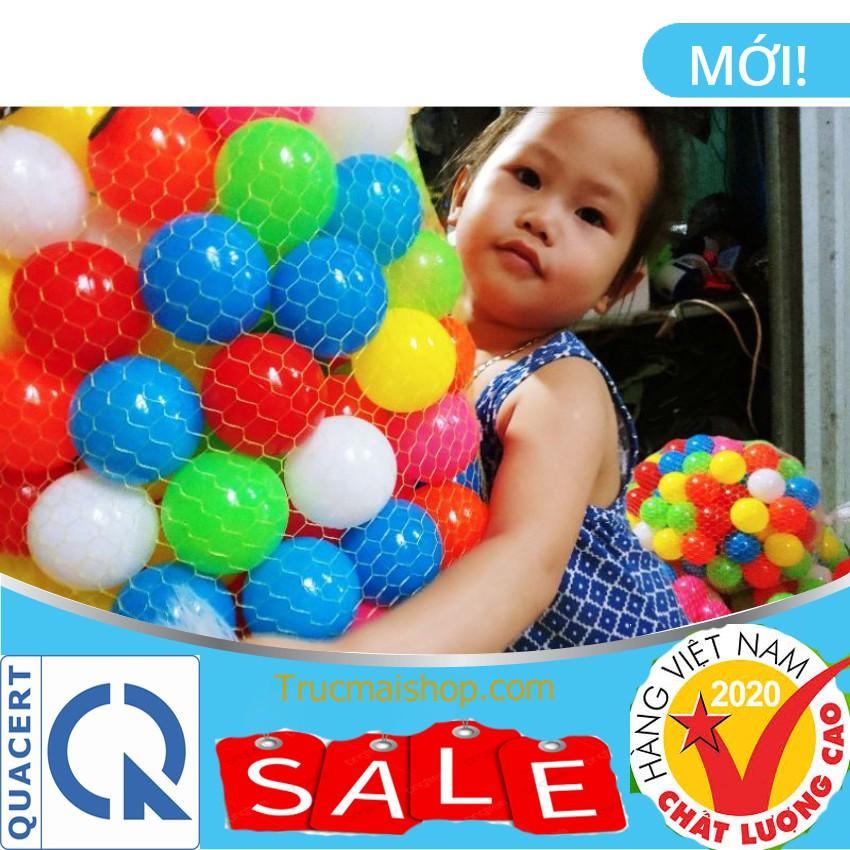 [SALE 50%] 100 Bóng Nhựa Nhà Banh Đồ chơi trẻ em cho bé chơi nhà bóng lều bóng Chính Hãng Việt Nam