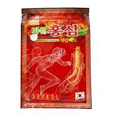COMBO 10 GÓI CAO DÁN HỒNG SÂM KOREA POWER GINSENG [TÚI ĐỎ 20 MIẾNG DÁN