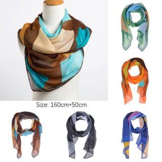 kaka-Women Ladies All-match Geometric Soft Silk Scarf Shawl Neck Warm Wrap