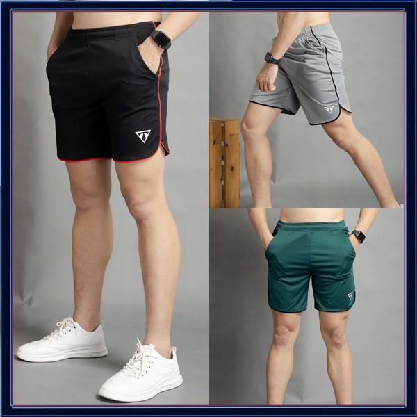 Quần Đùi Thể Thao Nam Line Bầu Vải Thun Lạnh Ts (Nhiều Màu) [NUTTY] quần short thê thao, quần tập gym cao cấp