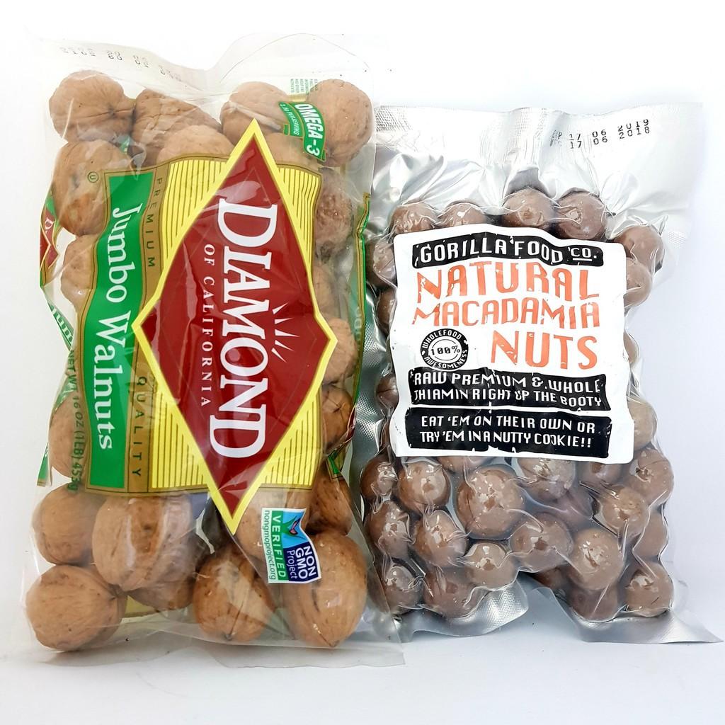 ComBo hạt Macca và quả Óc chó ( Loại túi ) ComBo hạt Macca và quả Óc chó ( Loại túi )