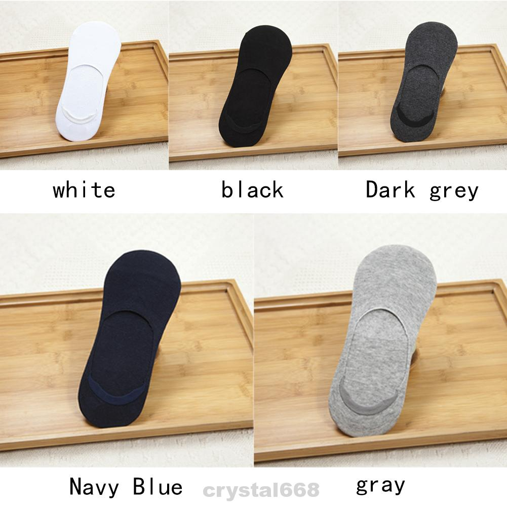 6 Pairs Breathable Casual Comfortable Cotton Blend Low Cut Fashion Non Slip Men Socks