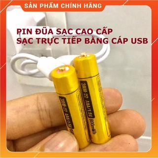 Vỉ 2 viên Pin đũa sạc AAA Beston 1.5V 800mWh cao cấp sạc nhanh trực tiếp bằng cổng micro USB | Pin sạc 3A cao cấp