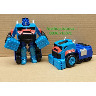 Robot Biến Hình Siêu Tốc Xe Tải Màu Xanh 1 Bước Cho Bé (Hasbro - Mỹ) thumbnail