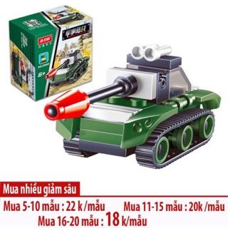 Đồ Chơi Lắp Ghép LEGO Xe Tăng và Máy Bay