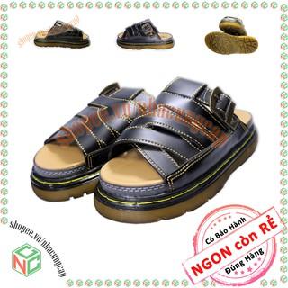 Giày dép nữ Doctor Dr.Martens giá rẻ có size lớn - Quai ngang đan chéo kiểu dáng mới của năm - NMH-DRNU-5Q1X-DE