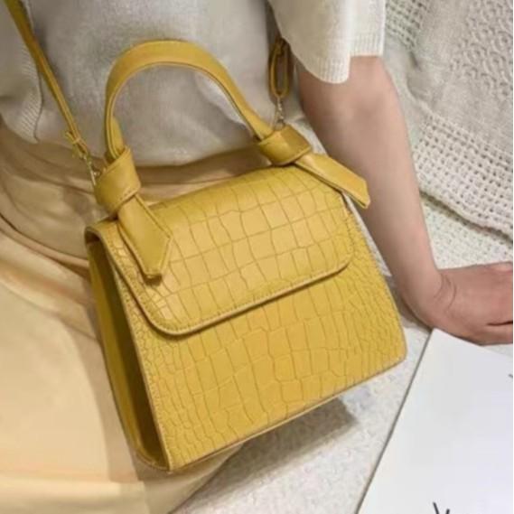 Túi xách đeo vai, túi đeo chéo thời trang nữ da pu có quai thắt nơ siêu xinh phong cách quý cô Hàn Quốc nhẹ nhàng