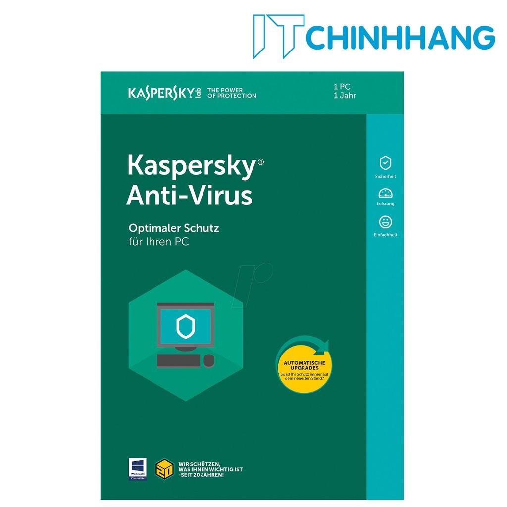 PHẦN MỀM DIỆT VIRUS KASPERSKY ANTI-VIRUS 1PC - HÃNG PHÂN PHỐI CHÍNH THỨC