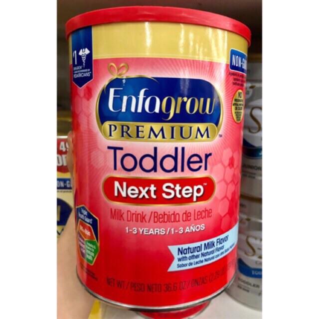 Sữa Enfagrow Non - GMO Premium Toddler Next Step dành cho bé từ 1 -3 tuổi.