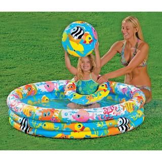 Bộ hồ bơi phao intex 3 món 59469. hồ 132x28cm + phao + bóng