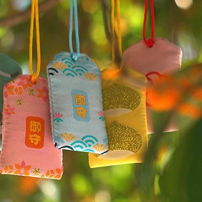 Túi Phước May Mắn Omamori tặng Đá Ngũ Sắc