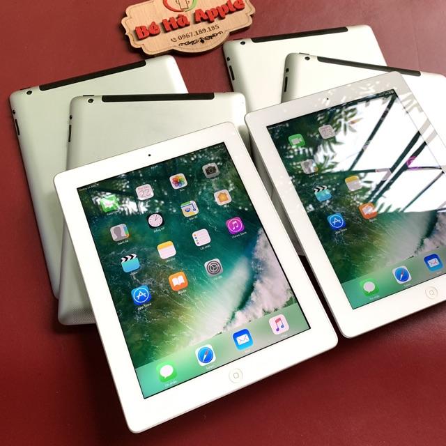 Máy Tính Bảng iPad 4 - 64/ 32/ 16Gb (Wifi + 4G)- Zin Đẹp 99% - Pin Khoẻ - Màn Rentina sắ
