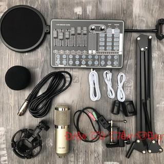 Micro thu âm sound card h9 mic bm900 chân màng dây live stream ma2- Mic thu âm sound card h9 có auto-tune