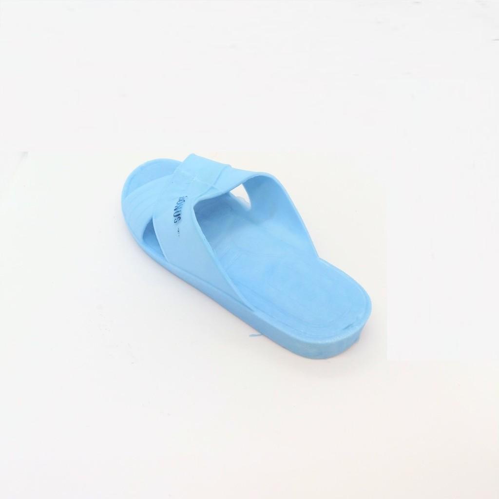 Dép nhựa trắng xanh Cẩm Đạt dùng cho khách sạn, bệnh viện, công sở - chọn lên 1 size