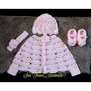 Set áo mũ len baby