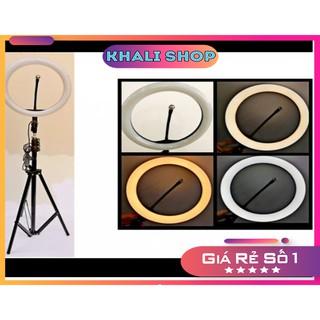 Đèn LiveStream 26cm – Hỗ trợ ánh sáng Chụp Ảnh, Led Make Up Trang Điểm , Phun xăm, Quay Tiktok, KhaLi Shop