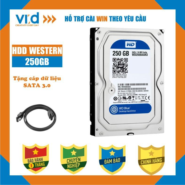 """.Ổ cứng HDD PC 3,5""""  500GB 320GB, 250GB, Western , Seagae-Tặng cáp Sata 3.0-Hàng nhập khẩu tháo máy đồng bộ - BH 1 tháng"""