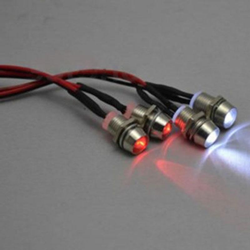 Set 4 đèn pha ban đêm 5mm&3mm cho xe ô tô/xe tăng điều khiển từ xa