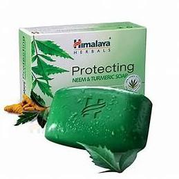 Xà phòng tắm giảm mụn mịn da Himalaya neem và nghệ tây 75g