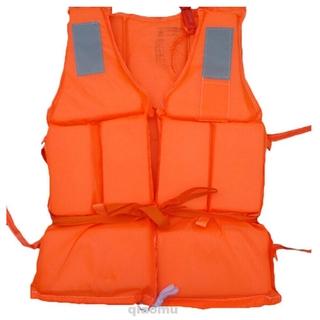 Adjustable Adult Life Jacket Whistle Survival Vest For Swimming Fishing Drift