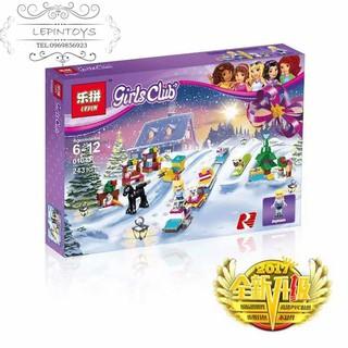 Lego Friends 41326 Advent Calendar Christmas Lepin 01041 Đến với lễ hội lịch Nhà gỗ khu trượt tuyết Quà cho các bé gái
