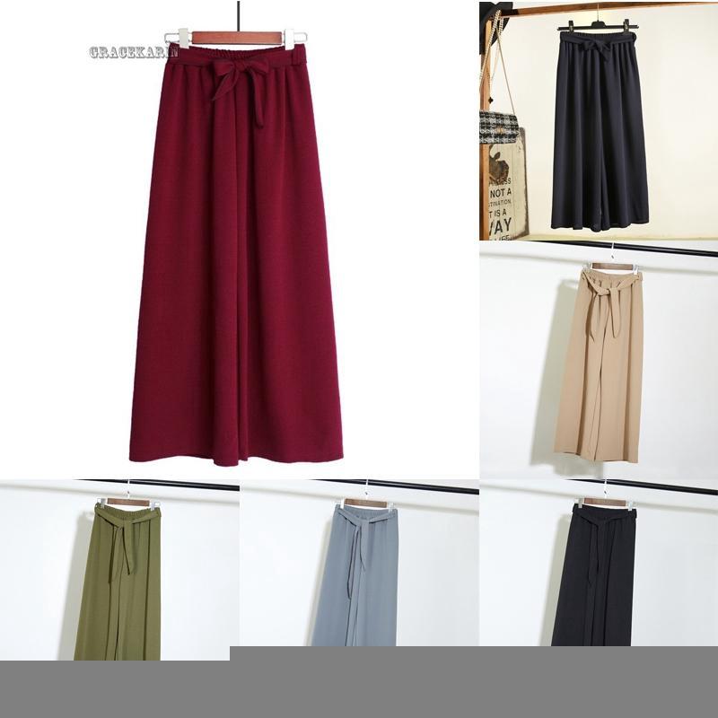 Quần ống rộng màu trơn thời trang cho nữ