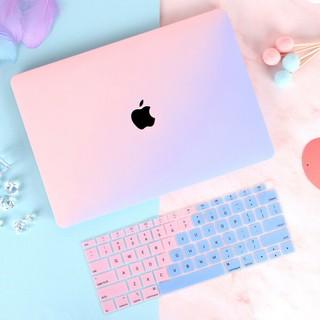 [Mã ELSEP10K giảm 10k]Ốp Macbook Và Phủ Phím Màu Ombre (Tặng Kèm Set Nút Chống Bụi Và Kẹp Chống Gãy Sạc)
