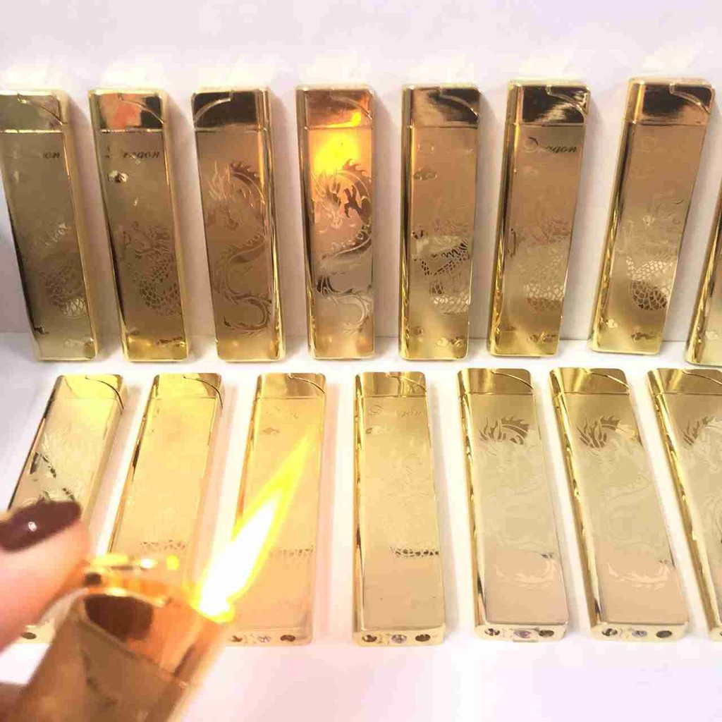 BẬT LỬA HỘP QUẸT RỒNG GOLD LỬA KHÈ XÀI GA