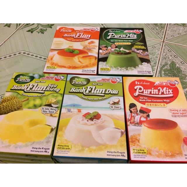 Bột Làm Bánh Flan Purin Mix 55g(Trứng,Sữa,Dừa,Sầu,MATCHA) - 9922920 , 678268268 , 322_678268268 , 23000 , Bot-Lam-Banh-Flan-Purin-Mix-55gTrungSuaDuaSauMATCHA-322_678268268 , shopee.vn , Bột Làm Bánh Flan Purin Mix 55g(Trứng,Sữa,Dừa,Sầu,MATCHA)