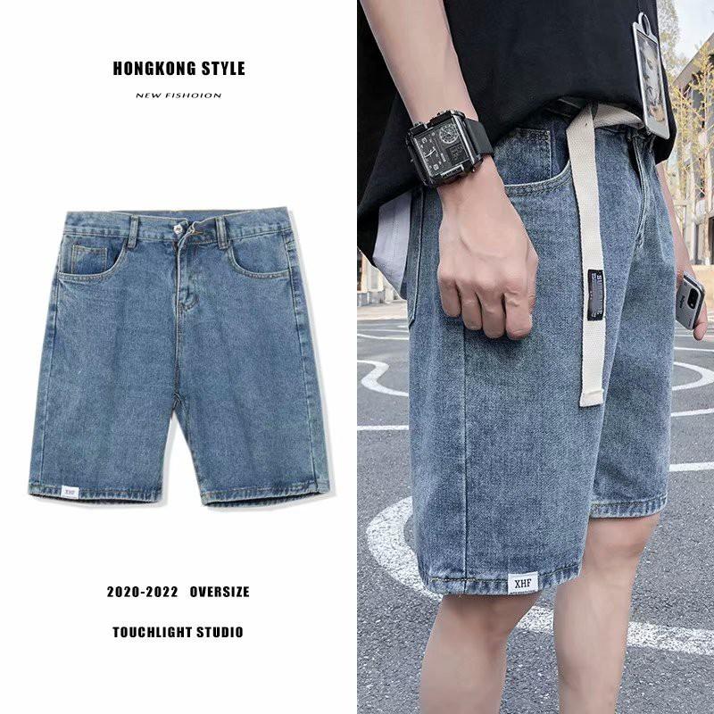 Quần short jean, quần ngố bò nam ống rộng , phong cách trẻ trung  thời trang mùa hè cho nam, hot trend 2021