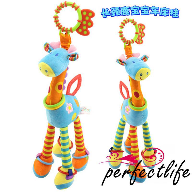 ★HZL-New Style size 37cm Giraffe Kids Soft Plush Toy Animal Stuffed Doll Toy